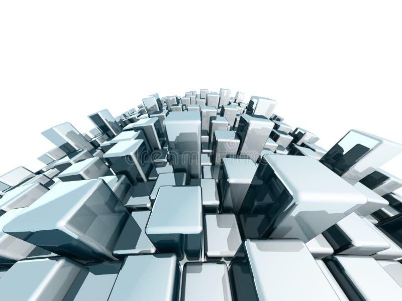 Fundo metálico do bloco dinâmico abstrato ilustração stock