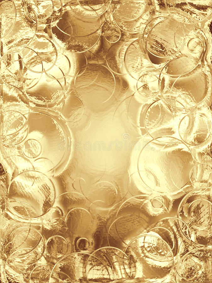 Fundo metálico do ouro ilustração stock
