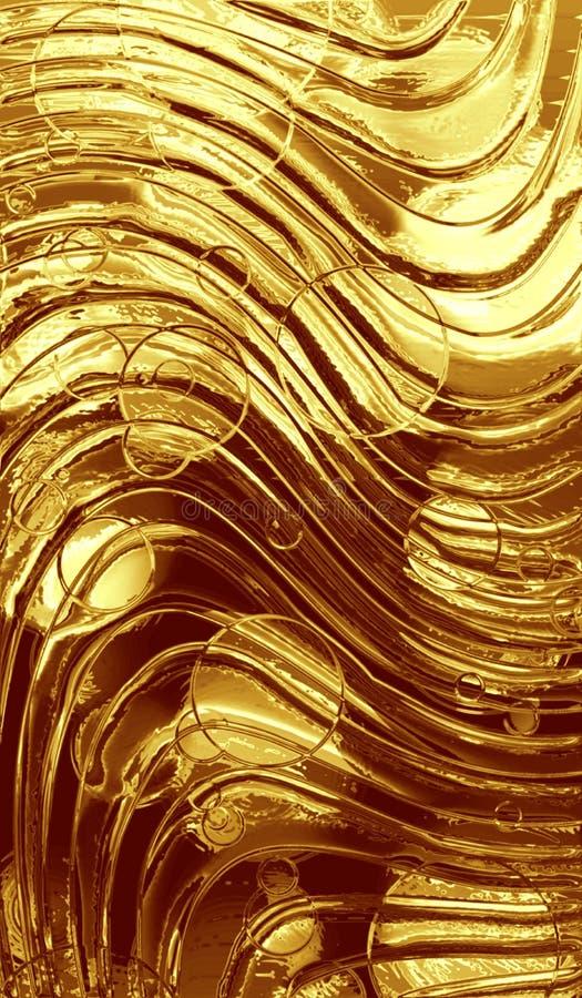 Fundo metálico do ouro ilustração do vetor
