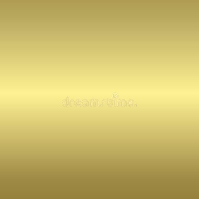 Fundo metálico dourado ilustração royalty free