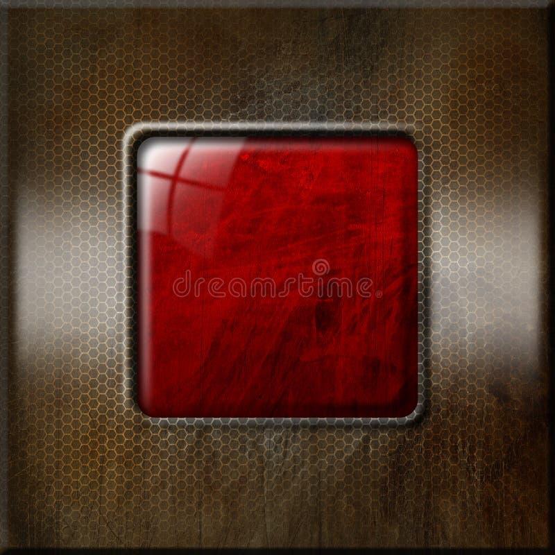 Fundo metálico e vermelho do Grunge ilustração royalty free