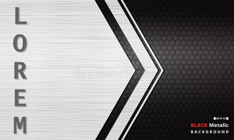 Fundo metálico escuro preto moderno da grade da textura ilustração royalty free