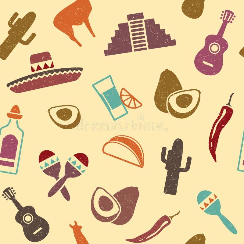 Fundo mexicano ilustração royalty free
