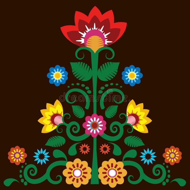 Fundo mexicano da ilustração da flor ilustração stock