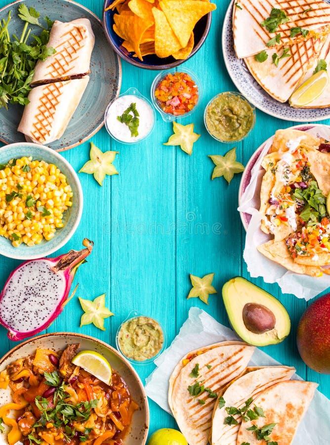 Fundo mexicano do alimento fotografia de stock