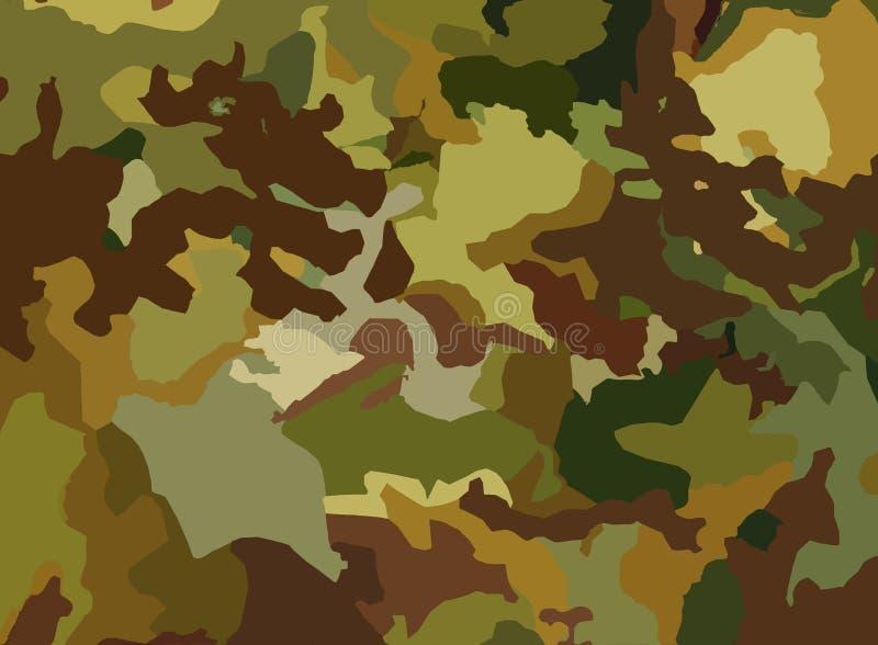 Fundo militar ilustração do vetor