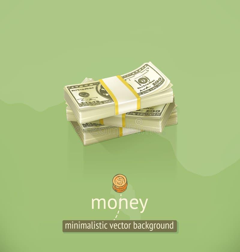 Fundo minimalistic do vetor do dinheiro ilustração royalty free
