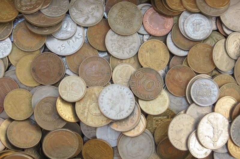Fundo misturado das moedas imagem de stock royalty free