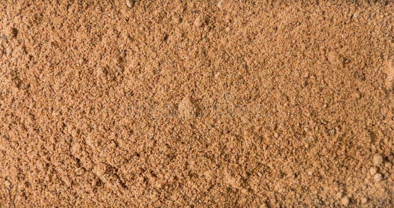 Fundo moído ou à terra da noz-moscada Textura de tempero natural Especiarias e ingredientes de alimento naturais imagens de stock