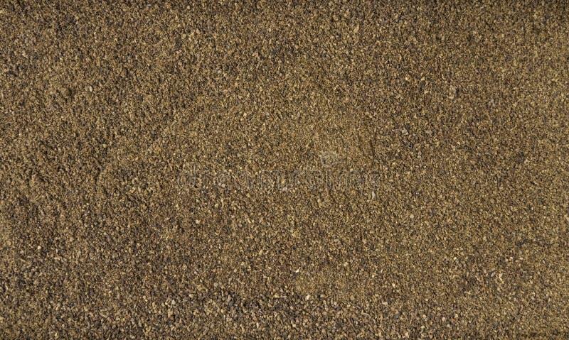 Fundo moído ou à terra da pimenta preta Textura de tempero natural Especiarias e ingredientes de alimento naturais imagem de stock