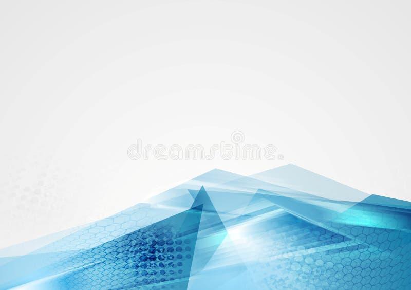 Fundo moderno azul incorporado abstrato ilustração do vetor