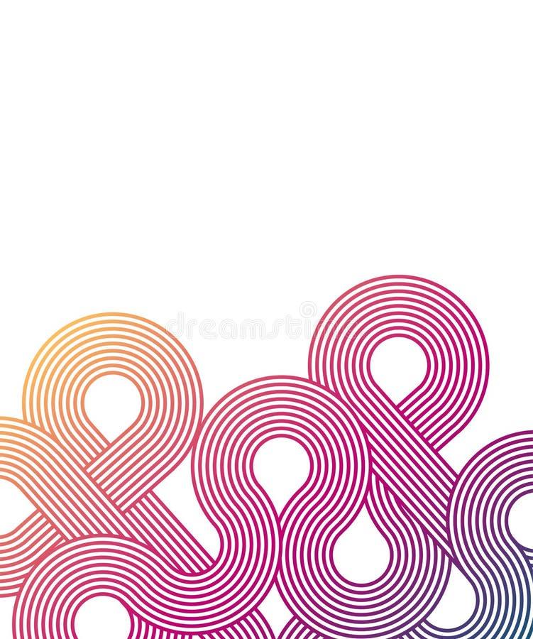 Fundo moderno Contexto abstrato na moda do inclinação Lugar para o texto Projeto de Minimalistic Teste padrão do inclinação ilustração do vetor