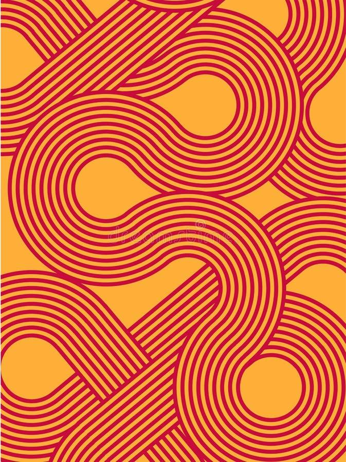 Fundo moderno Contexto abstrato na moda do inclinação Projeto de Minimalistic teste padrão de ondas listrado ilustração stock