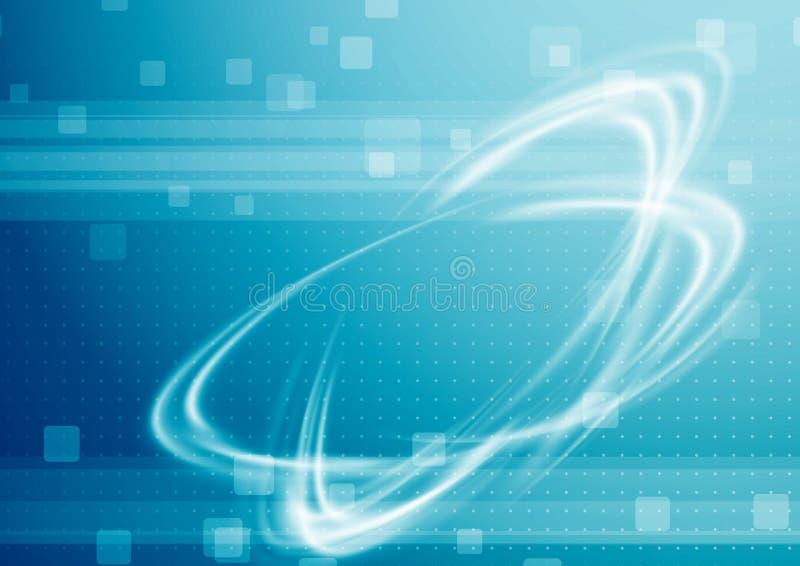 fundo moderno da Alto-tecnologia com swoosh transparente do poder Resumo ilustração do vetor