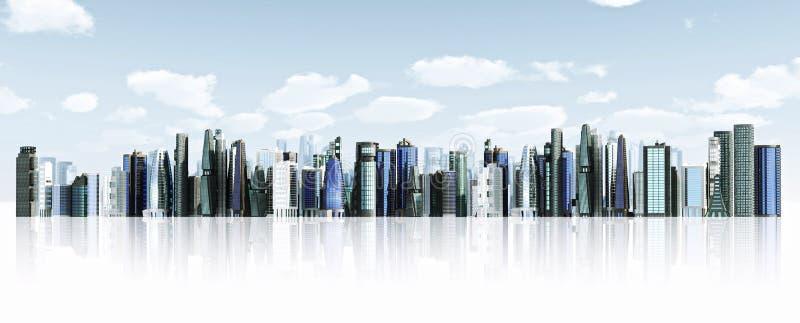 Fundo moderno da cidade ilustração do vetor