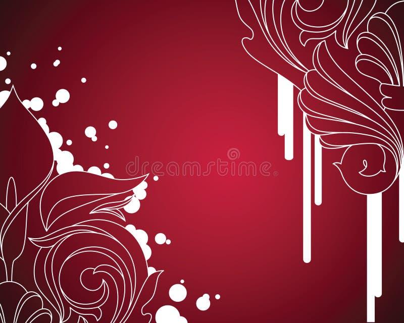 Fundo moderno da flor ilustração stock