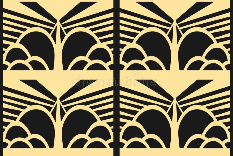 Fundo moderno de Art Deco ilustração royalty free