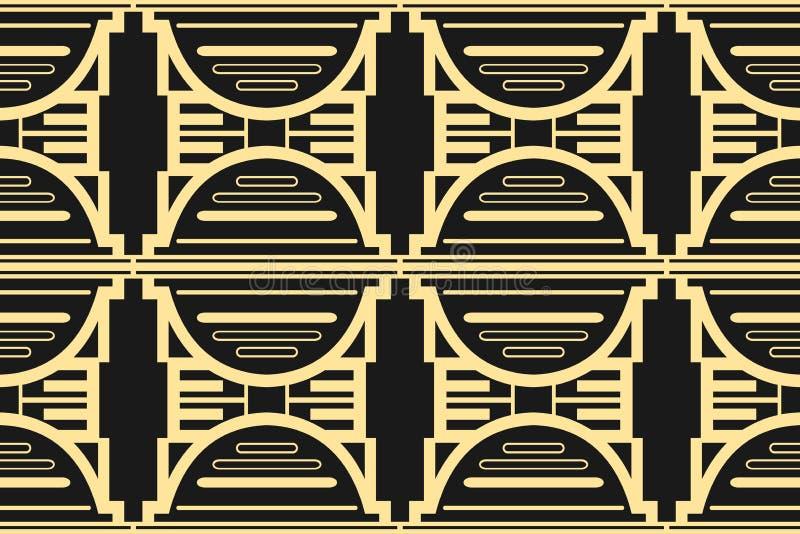 Fundo moderno de Art Deco ilustração stock