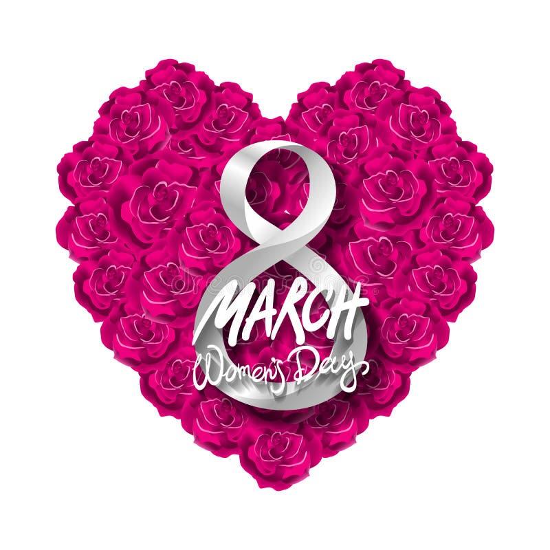 Fundo moderno do dia ou do 8 de março de Valentim do vetor Dia de matrizes ano novo feliz 2007 O dia da mulher internacional back ilustração do vetor