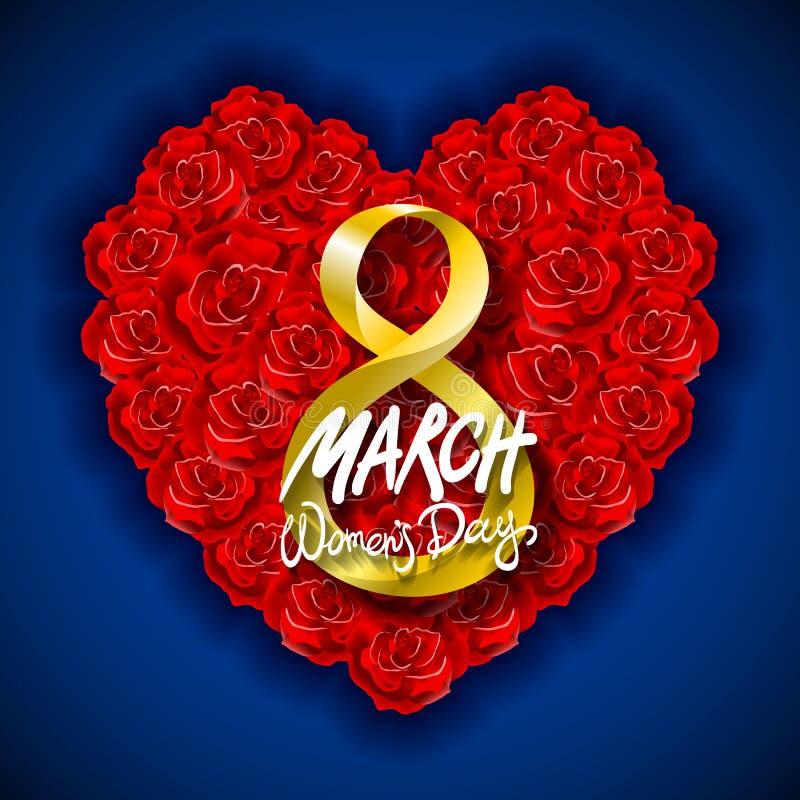 Fundo moderno do dia ou do 8 de março de Valentim do vetor Dia de matrizes ano novo feliz 2007 O dia da mulher internacional back ilustração stock