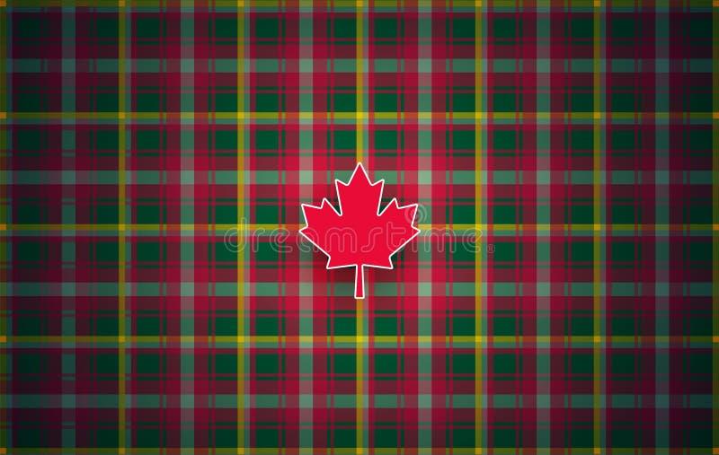 Fundo moderno do sumário canadense da tartã da folha de bordo para Canadá ilustração stock