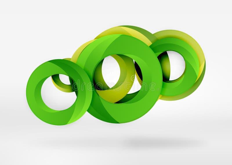 Fundo moderno do sumário do vetor do anel 3d ilustração royalty free