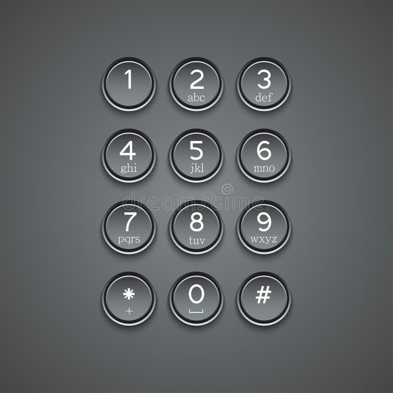 Fundo moderno do teclado do telefone do vetor ilustração do vetor