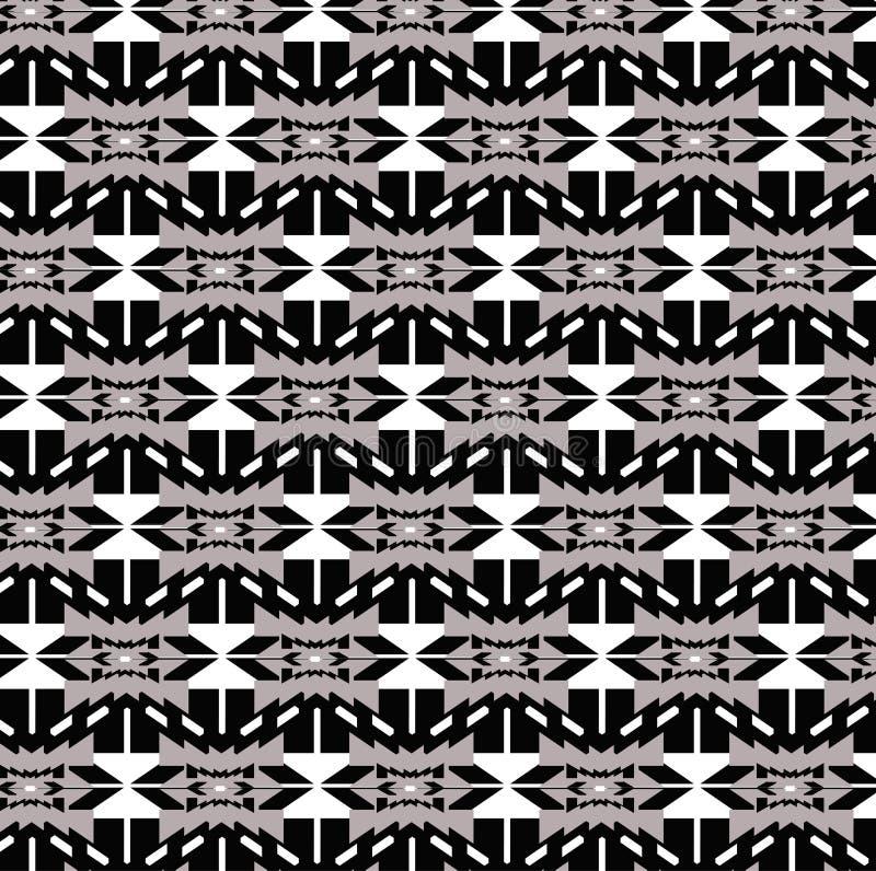 Fundo moderno do vetor do sumário da cor do teste padrão étnico da repetição fotografia de stock royalty free