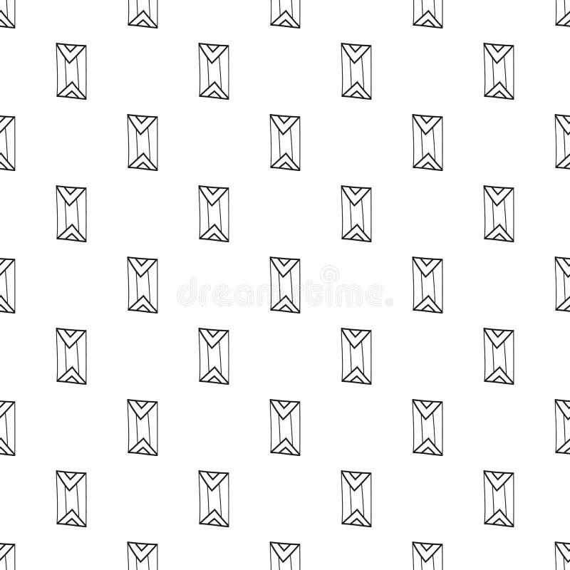 Fundo moderno geométrico Teste padrão sem emenda minimalista abstrato Projeto repetitivo para a tampa, papel de parede, tela ilustração royalty free