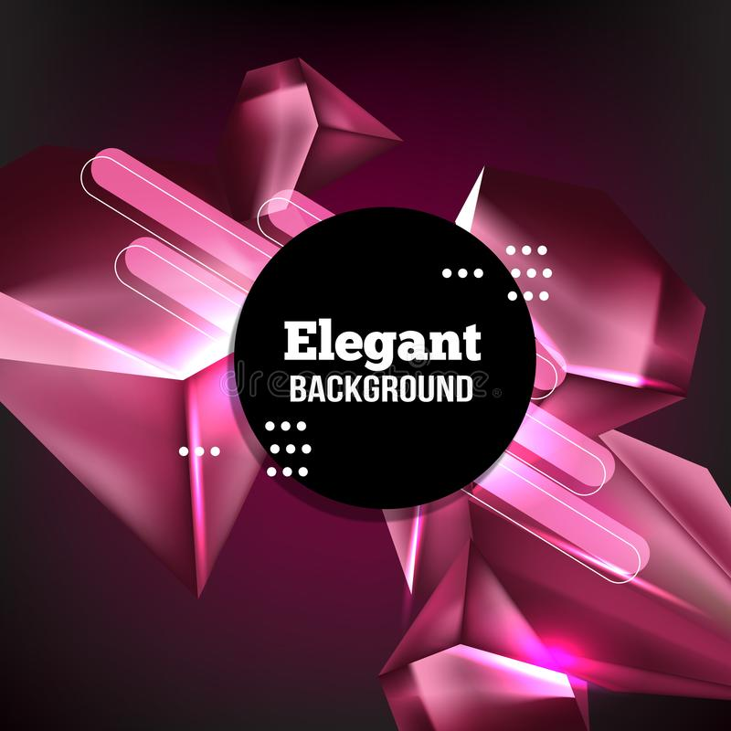 Fundo moderno no estilo geométrico minimalista na moda ilustração royalty free