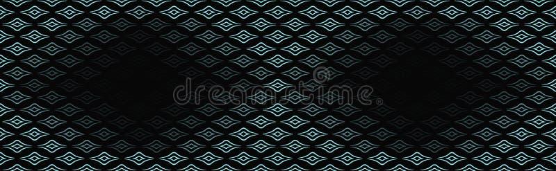 Fundo moderno, sem emenda para anunciar, empacotando com espaço para o texto o azul é uma cor luxuoso das linhas, testes padrões  ilustração do vetor