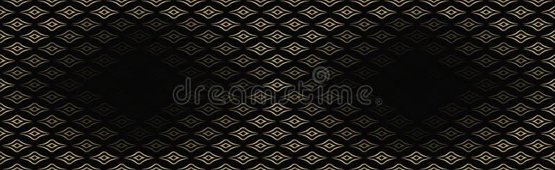 Fundo moderno, sem emenda para anunciar, empacotando com espaço para o texto brilho do ouro, cor lindo, linhas, testes padrões na ilustração royalty free