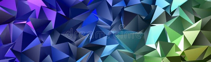 Fundo moderno triangular Baixo-poli abstrato ilustração royalty free