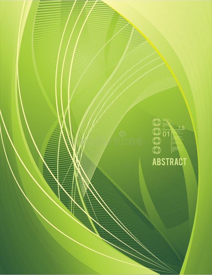 Fundo moderno verde do vetor ilustração stock
