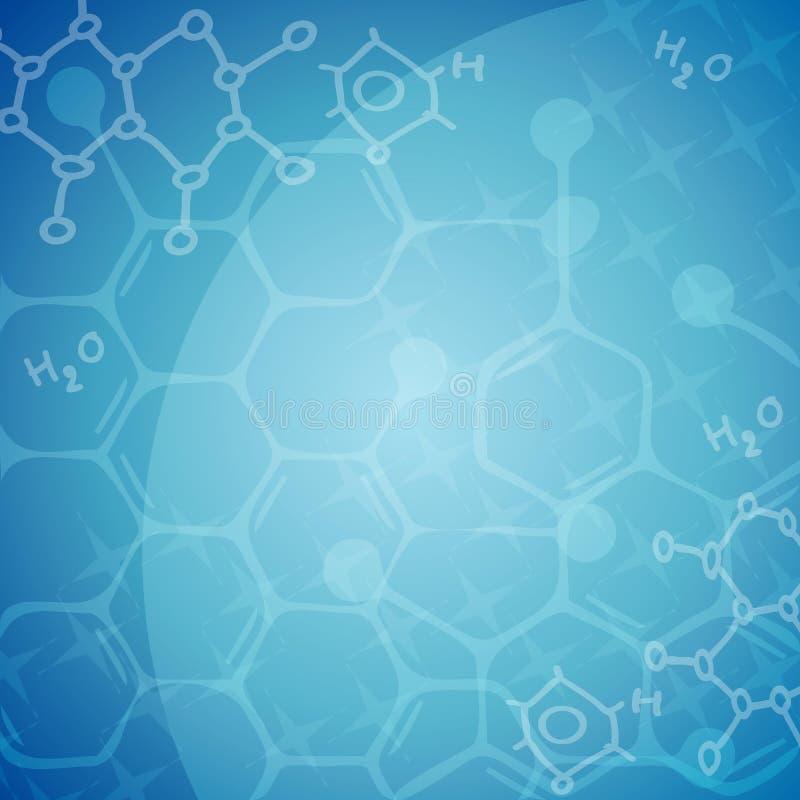 Fundo molecular ilustração royalty free