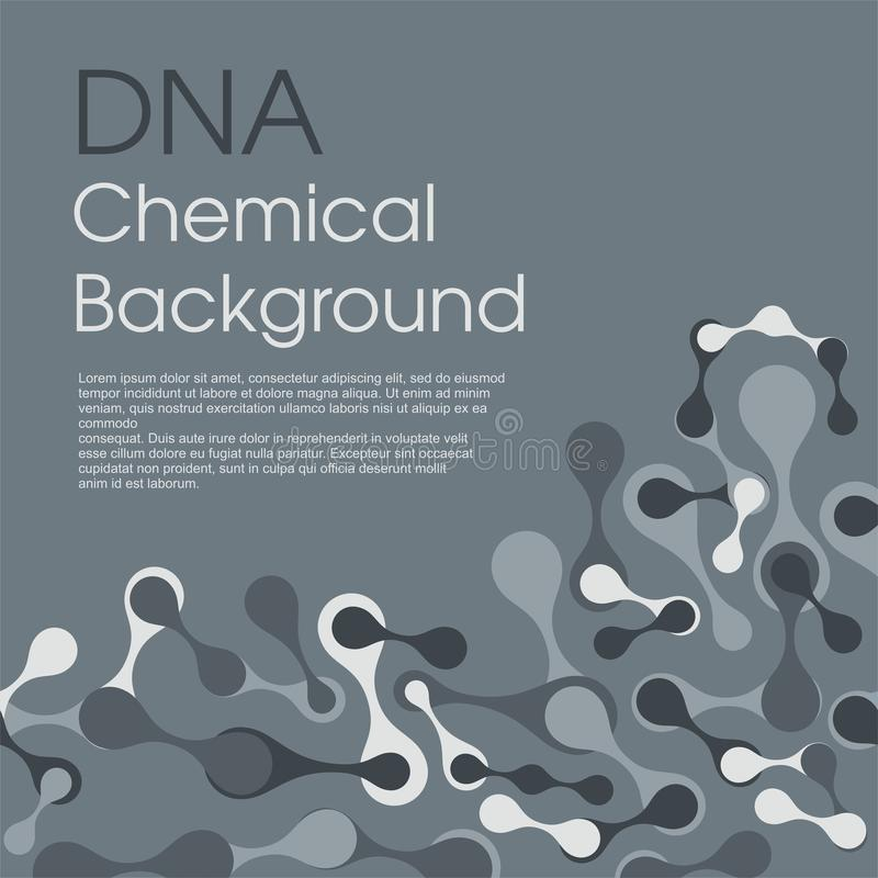 Fundo molecular da estrutura de pilha Contexto químico do vetor da conexão de rede ilustração do vetor