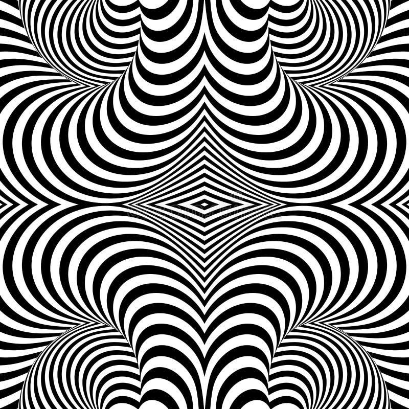 Fundo monocromático da ilusão do giro do projeto ilustração do vetor