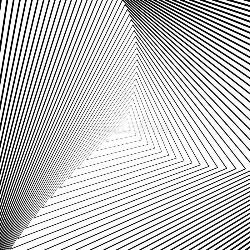 Fundo monocromático da ilusão do triângulo do projeto ilustração stock