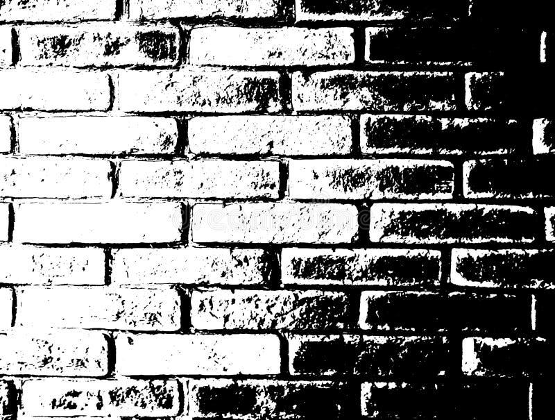 Fundo monocromático do grunge do vetor Ilustração da textura da parede de tijolo Efeito da folha de prova do selo do esboço da af ilustração stock