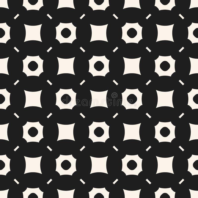 Fundo monocrom?tico m?nimo abstrato com formas perfuradas, quadrados ilustração stock