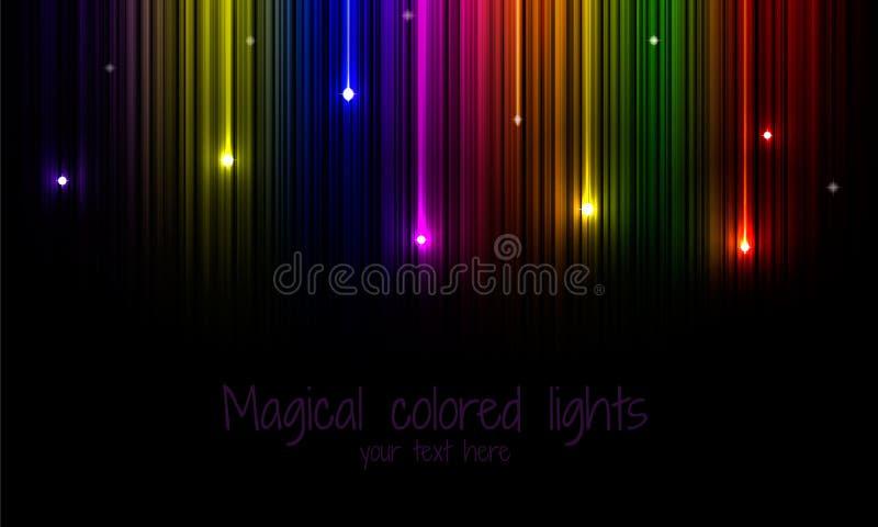 fundo Multi-colorido do arco-íris com estrela de queda ilustração royalty free