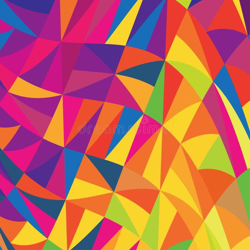 fundo Multi-colorido dos triângulos. ilustração do vetor