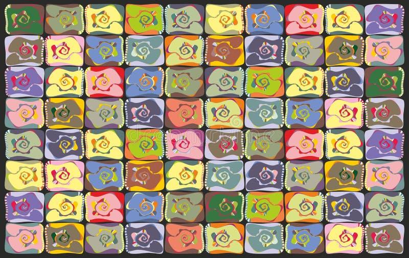 Fundo multi-colorido sumário ilustração royalty free