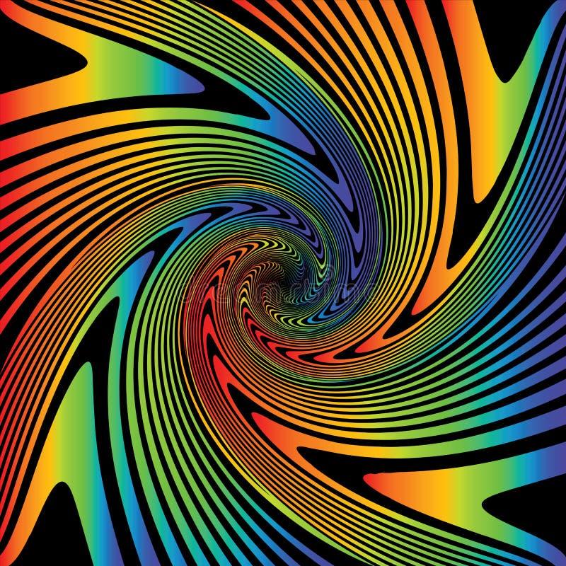 Fundo multicolorido da ilusão do giro do projeto ilustração royalty free
