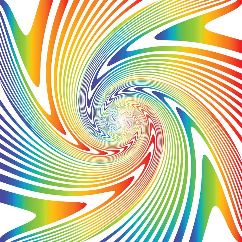 Fundo multicolorido da ilusão do giro do projeto ilustração stock