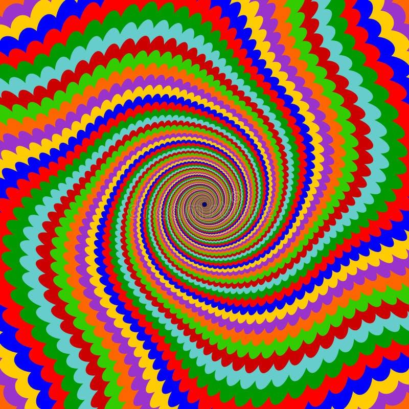 Fundo multicolorido da rotação da pirueta do projeto ilustração stock