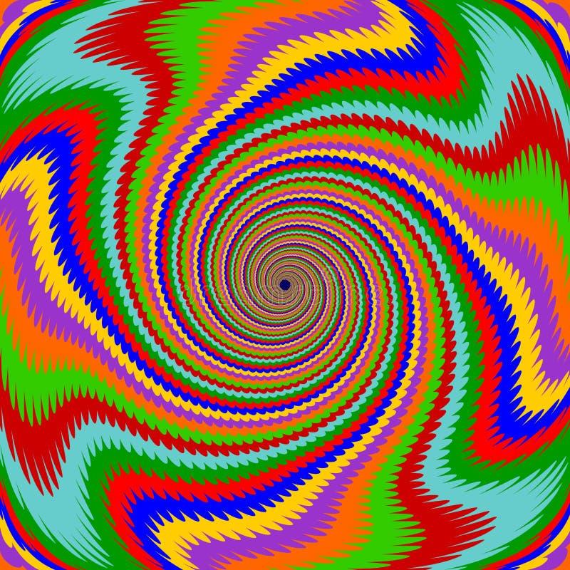 Fundo multicolorido da rotação do redemoinho do projeto ilustração royalty free
