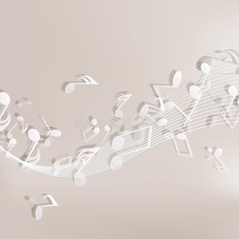 Fundo musical abstrato ilustração stock