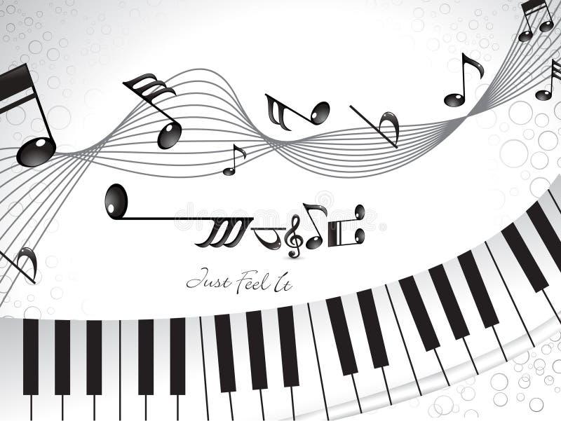 Fundo musical abstrato com piano ilustração royalty free