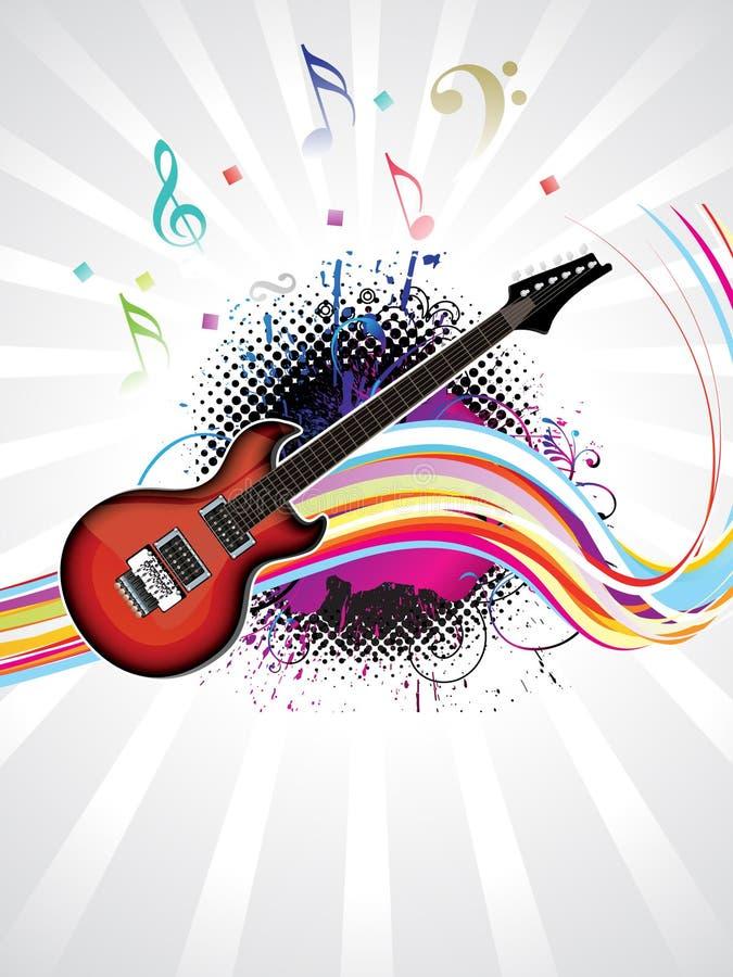 Fundo musical colorido abstrato ilustração royalty free